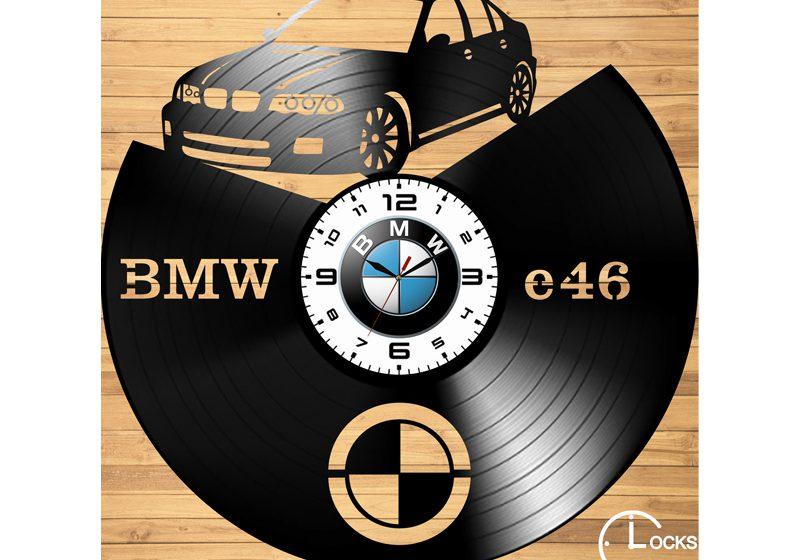 Ceas retro cu BMW e46 din vinil
